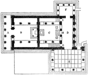 Floor plan of the Erechtheum