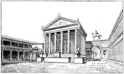 North end of the Forum, with the Temple of Jupiter