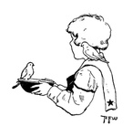 Boy with bird