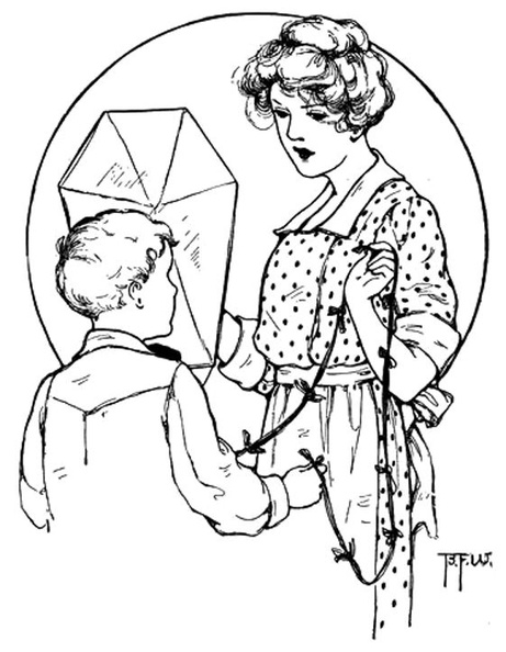 Lady and boy discuss a kite.jpg