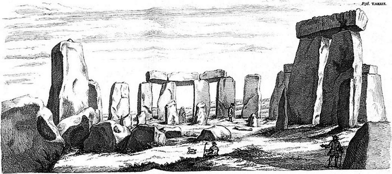 Inward View of Stonehenge from the high altar. Aug. 1722.jpg