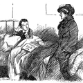 Boy in bed talking to his mother