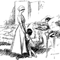 Lady and small girl visiting a lady in bed