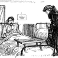 Lady visiting man in hospital