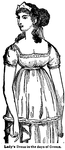 Lady's Dress in the days of Greece