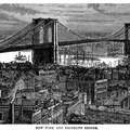 New York and Brooklyn Bridge