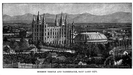 Tabernacle and Temple, Salt Lake City