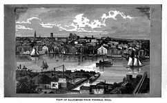 View of Baltimore, from Federal Hill