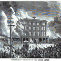 Pittsburgh - Burning of the union depot