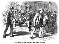 Baltimore - carrying off the dead rioters