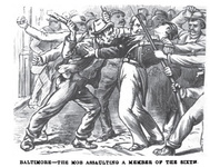 Baltimore - the mob assaulting a member of the sixth