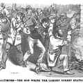 Baltimore - The mob firing the Camden Street Station