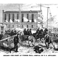 Chicago - The fight at Turner Hall , arrival of U.S. Artillery