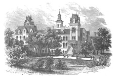 New York - The Colored orphan asylum, 143rd Street. The former building destroyed during the draft riots of 1863