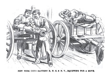 New York City - BAttery B, N.G.S.N.Y., equipping for a move