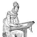 Lady in house-robe. Period, 1816