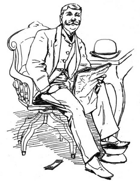 Man looking up from his reading and smiling.jpg