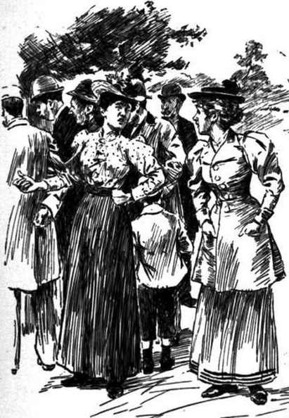 Two ladies in the crowd at the park.jpg