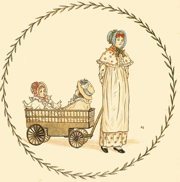 Lady pulling two girls in a wagon.jpg