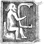 Ancient Irish harp