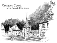Entrance court to La Grande Chartreuse