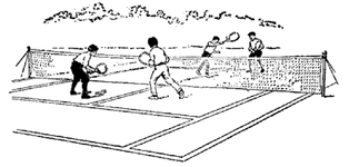A game of doubles in lawn tennis