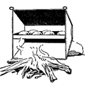A reflector camp oven