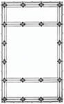 Square frame with Diamond motif
