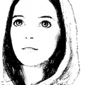 Young lady with wide-open eyes