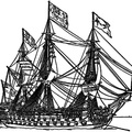 Three-decked ship of the line, 18th century