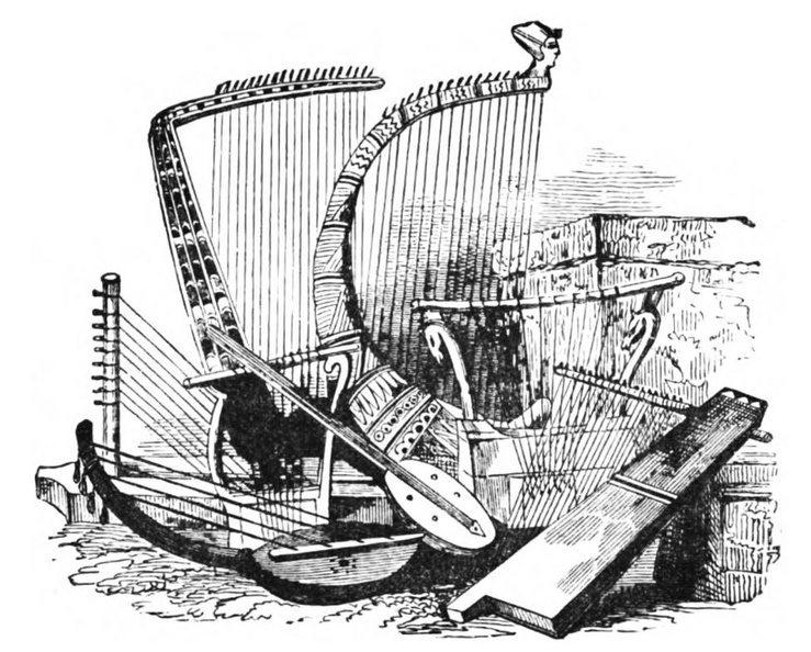 Group of Harps and other musical instruments.jpg