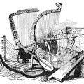Group of Harps and other musical instruments