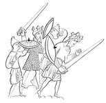 Anglo-Saxon warriors