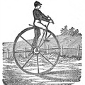 English one-wheeled Velocipede