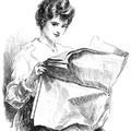 Ladies' Cheeky look while reading the newspaper