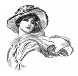 Lady in scarf and hat