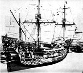 A cutaway drawing of the original Mayflower