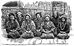 Ainu Women, showing Tattooing