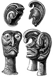 Helmets and Idol-heads of Feathers, Hawaii