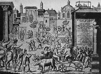 A medieval method of combating the plague. The persecution of the anointers in Milan in 1630