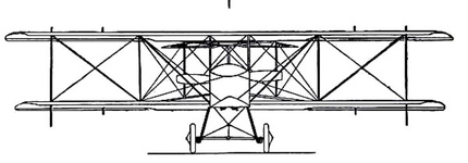 Grahame-White Military Biplane - front view