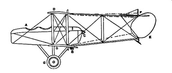 Grahame-White Military Biplane - side view