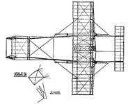 The Farman Biplane - top view