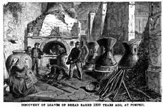 Discovery of loaves of bread baked 1800 years ago, at Pompeii