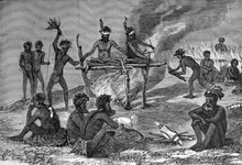 Australian Natives Burning their Dead