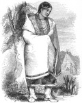 "Woman of the Sacs, or ""Sau-kies,"" Tribe of American Indians"