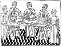 The first printed picture of dissection