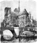 Notre Dame Cathedral (from the Rear)