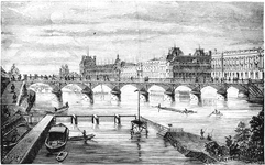 The Pont Des Arts and the Louvre