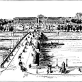 One of the bridges across the Seine,—showing the Place de la Concorde and the Tuileries in the distance
